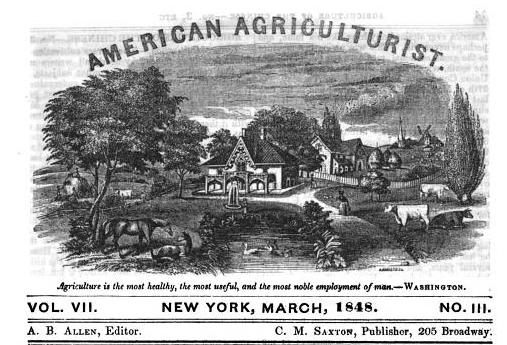 The American agriculturist, Volume 7, March 1848